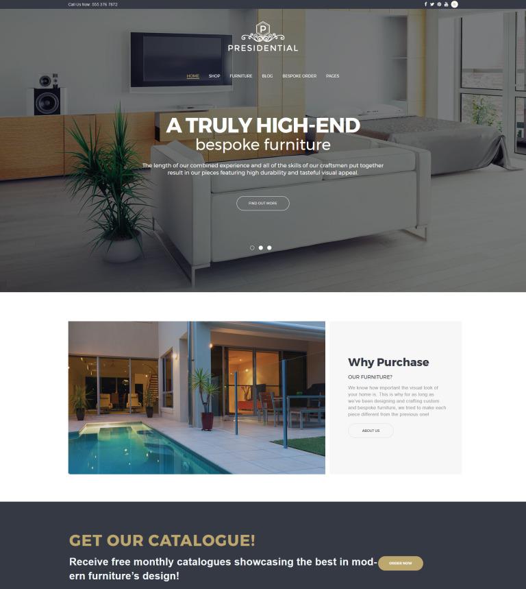 presidential home decor furniture wordpress theme new screenshots big