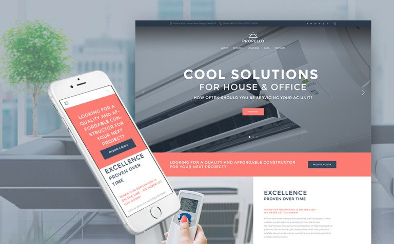 Propello - Air Conditioning Maintenance WordPress Theme New Screenshots BIG