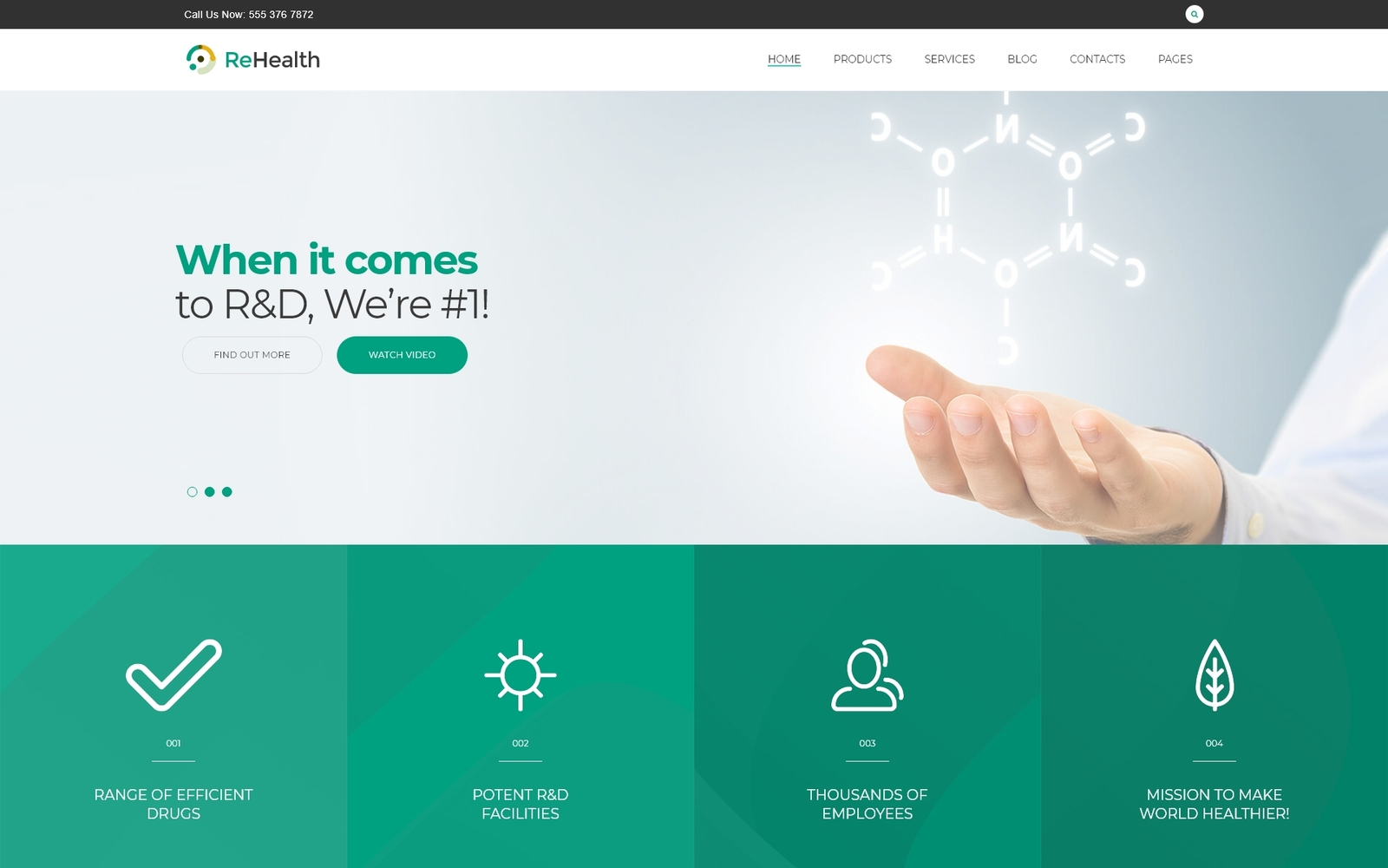"""ReHealth - Medical & Drug Store"" Responsive WordPress thema №62499"