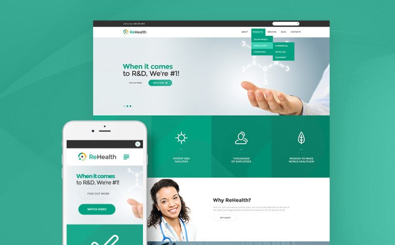 ReHealth - Medical & Drug Store WordPress Theme New Screenshots BIG
