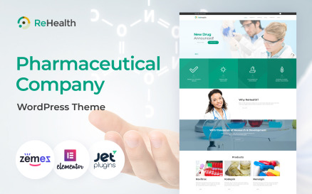 ReHealth - Medical & Drug Store WordPress Theme
