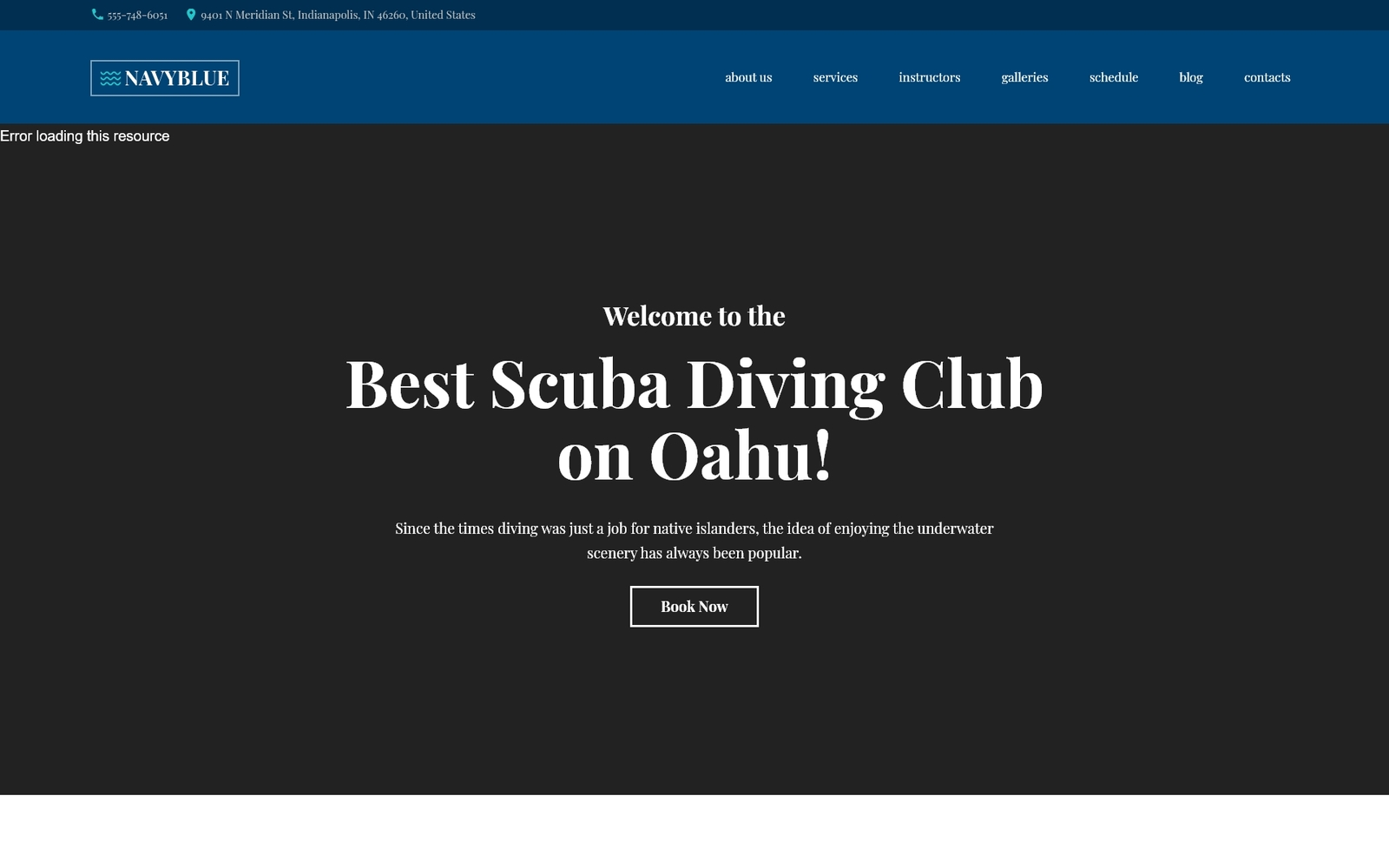 Responsivt NavyBlue - Scuba Diving Club Responsive WordPress-tema #62484