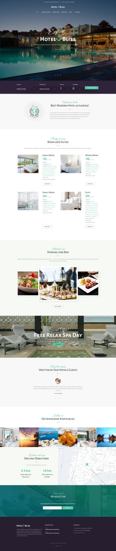 Responsywny motyw WordPress #62442 na temat: hotele #62442