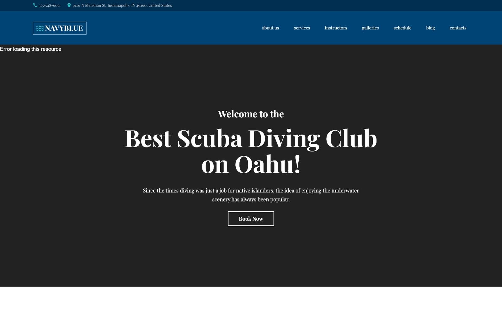 Responsywny motyw WordPress NavyBlue - Scuba Diving Club Responsive #62484