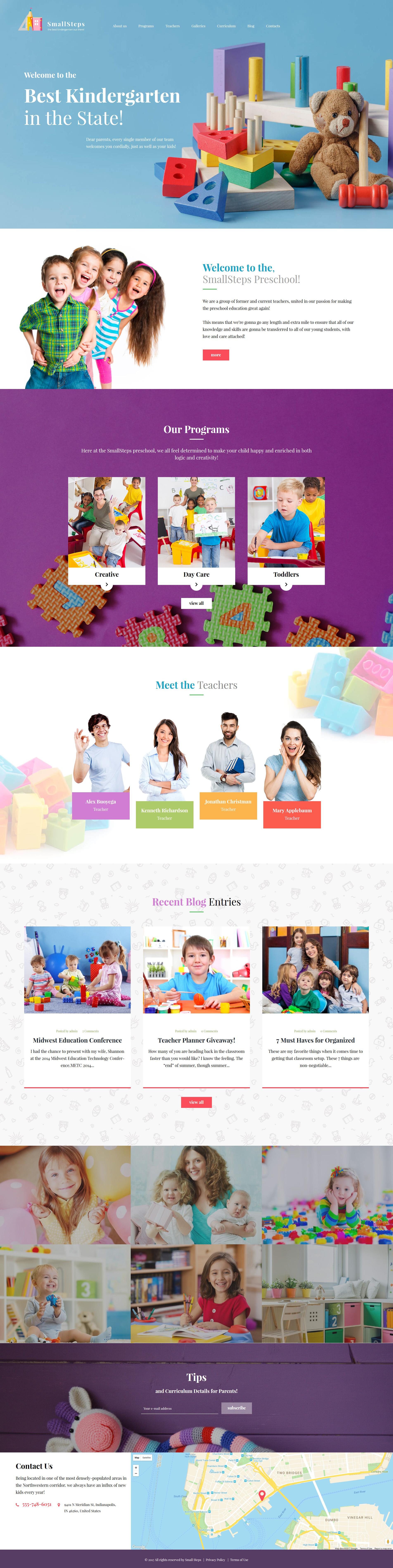 Responsywny motyw WordPress SmallSteps - Kindergarten Responsive WordPress Theme #62446 - zrzut ekranu