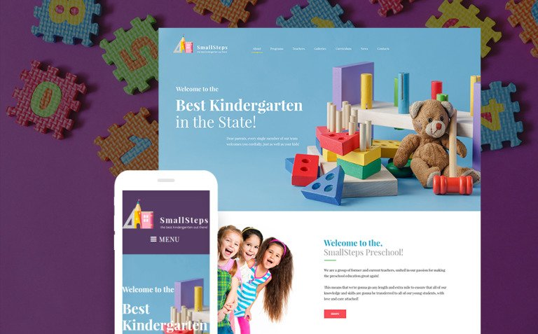 SmallSteps - Kindergarten Responsive WordPress Theme New Screenshots BIG