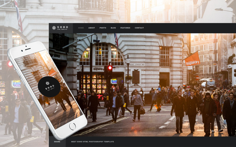 Soho - Photo Portfolio Website Template Website Template New Screenshots BIG