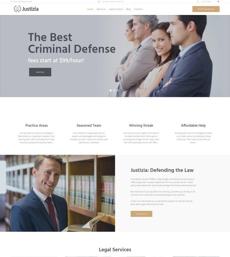 Tema de WordPress #62440 para Sitio de Abogados o licenciados