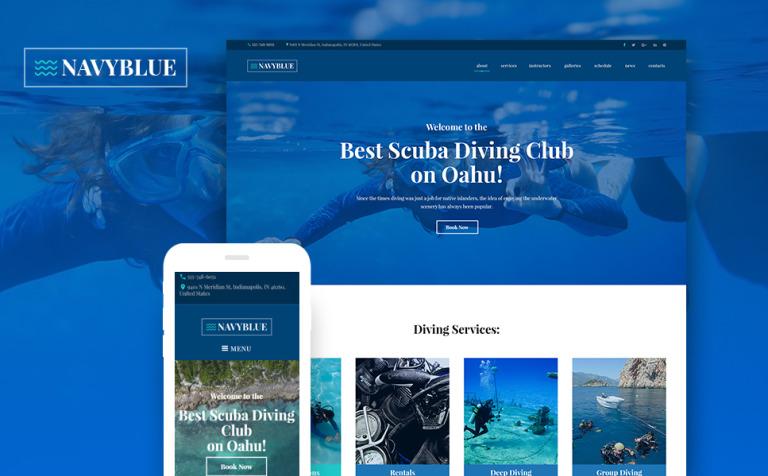 Tema de WordPress #62484 para Sitio de Buceo