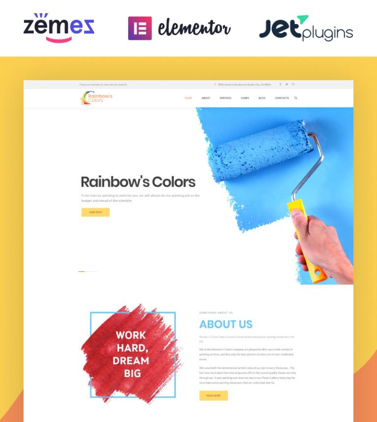 Tema de WordPress #62453 para Sitio de Empresas de pintura