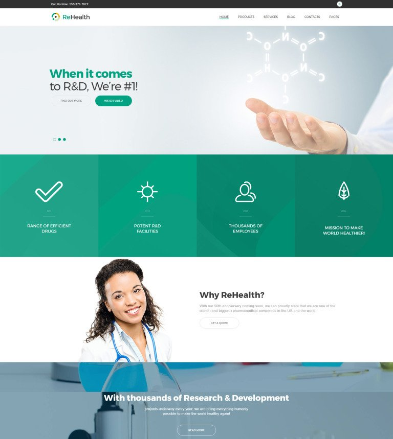 Tema de WordPress #62499 para Sitio de Farmacias