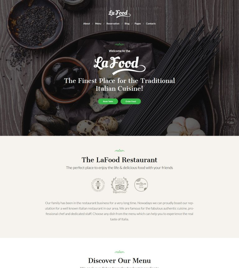 Tema de WordPress #62451 para Sitio de Restaurantes italianos