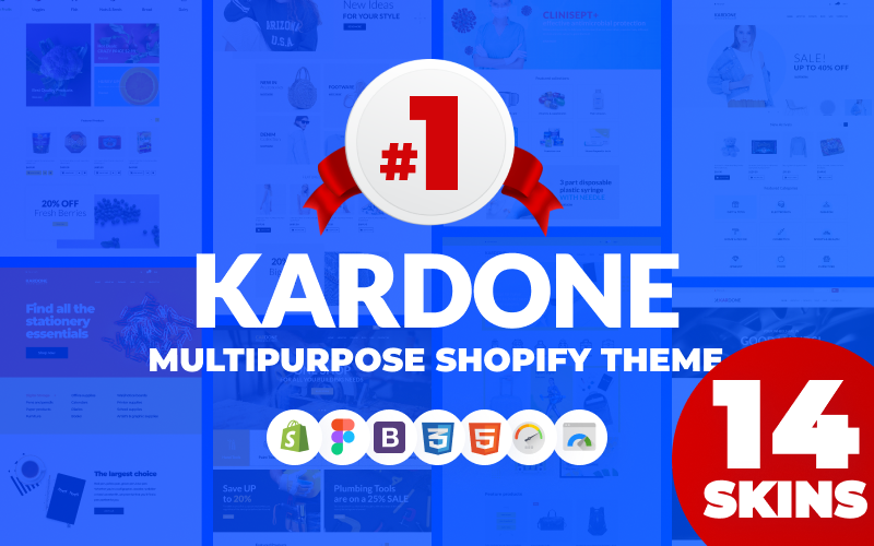 "Tema Shopify ""KarDone - Multipurpose Designs"" #62439"