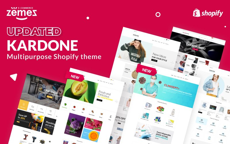 "Tema Shopify ""Kardone - Multipurpose Theme"" #62439"