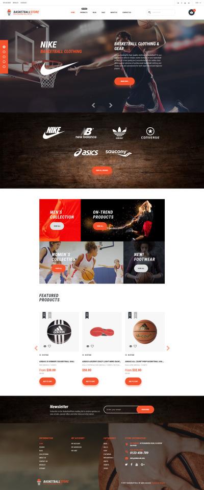 Responsive Tema Shopify #62457 para Sitio de  para Sitio de Baloncesto