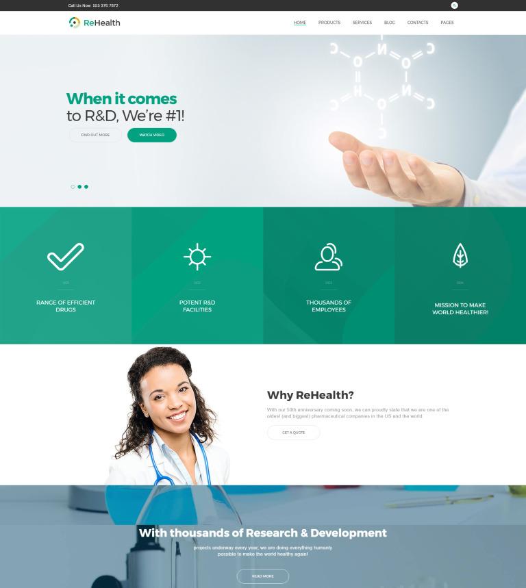 Tema WordPress Flexível para Sites de Farmácia №62499