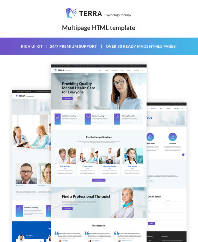 Template Web Flexível para Sites de Psicologo №62461 #62461