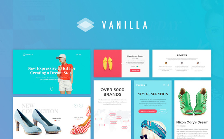 Vanilla UI Kit UI Elements New Screenshots BIG