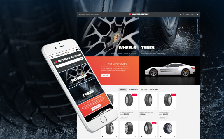 Wheels & Tyres OpenCart Template New Screenshots BIG