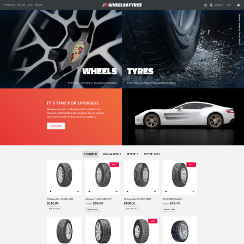 Wheels & Tyres - OpenCart Template based on Bootstrap