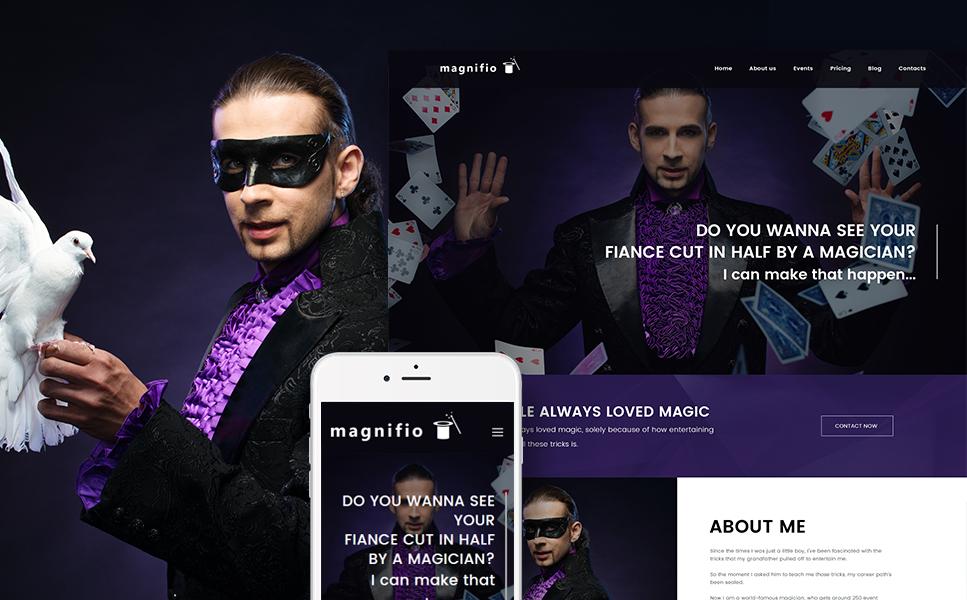 Шаблон Magnifio сайта на тему магия #62413