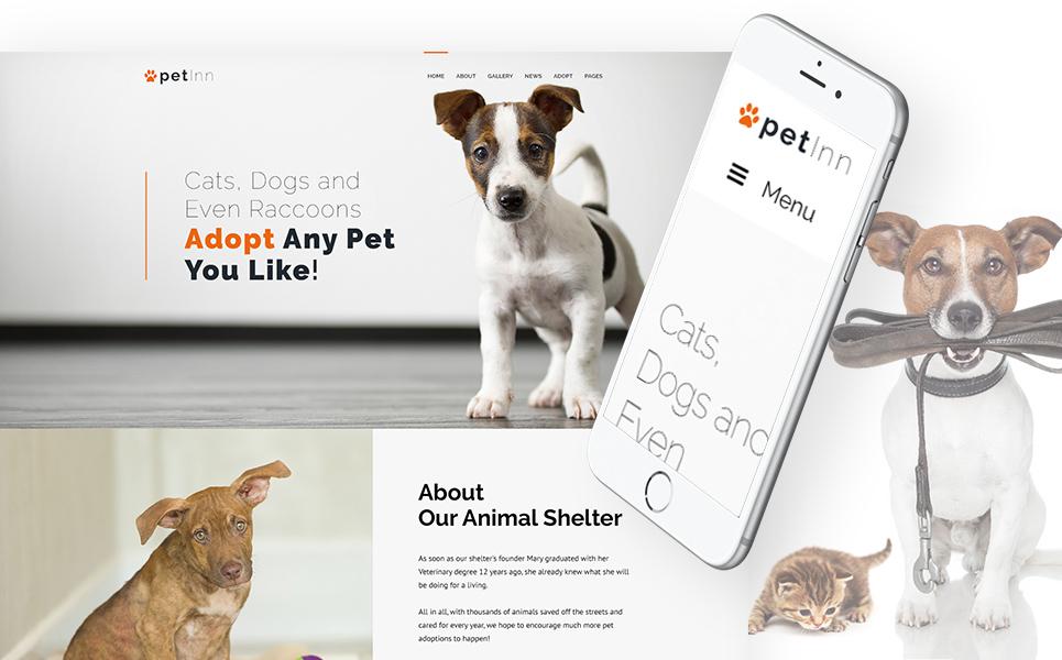 Шаблон PetInn сайта на тему приют для животных #62483
