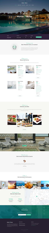 "WordPress Theme namens ""HotelBliss - Spa & Resort Hotel"" #62442"