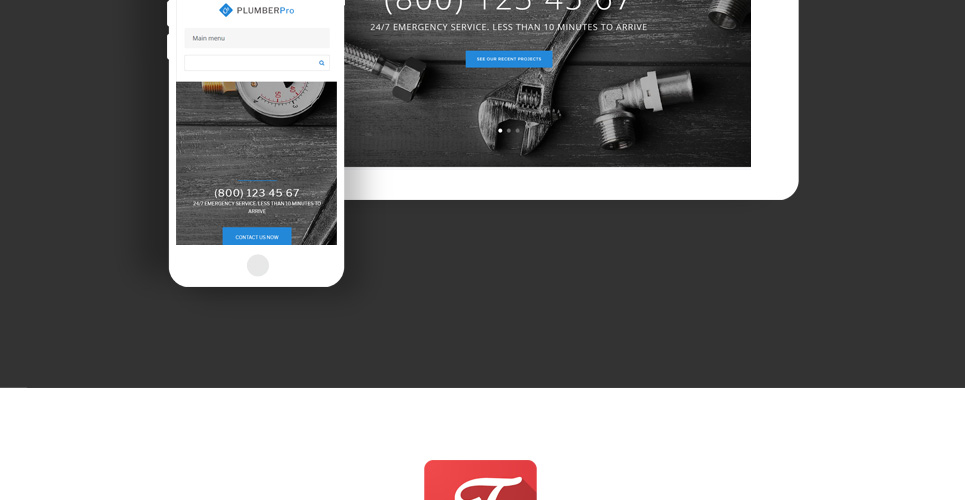 Website Design Template 62503 - service plumber handyman house repair maintenance