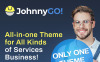 """JohnnyGo - Multipurpose Home Services"" Responsive WordPress thema Groot  Screenshot"