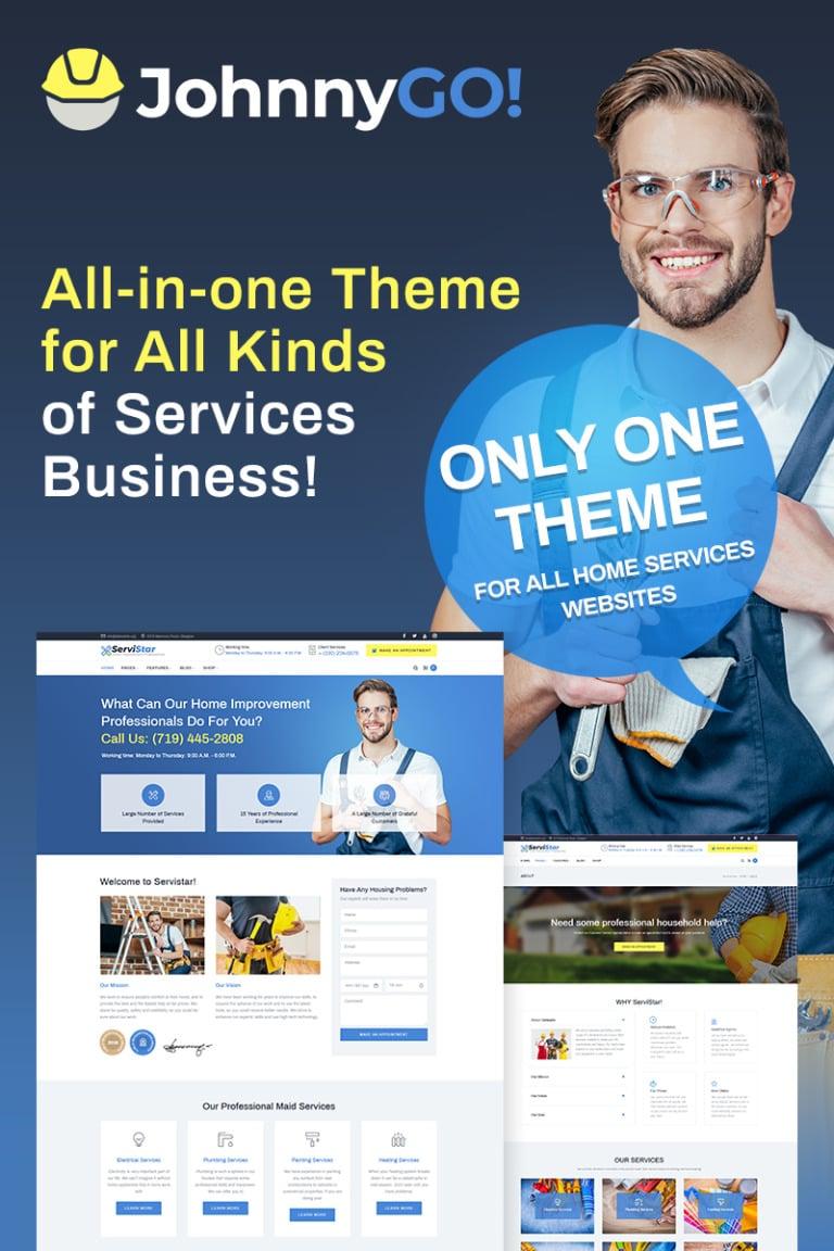 johnnygo multipurpose home services wordpress theme big screenshot