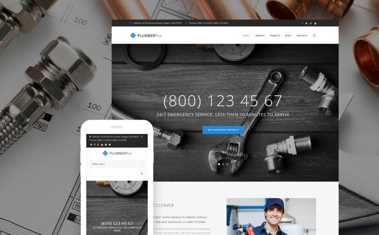 Plumberpro - Plumbing Service Premium Drupal Template New Screenshots BIG