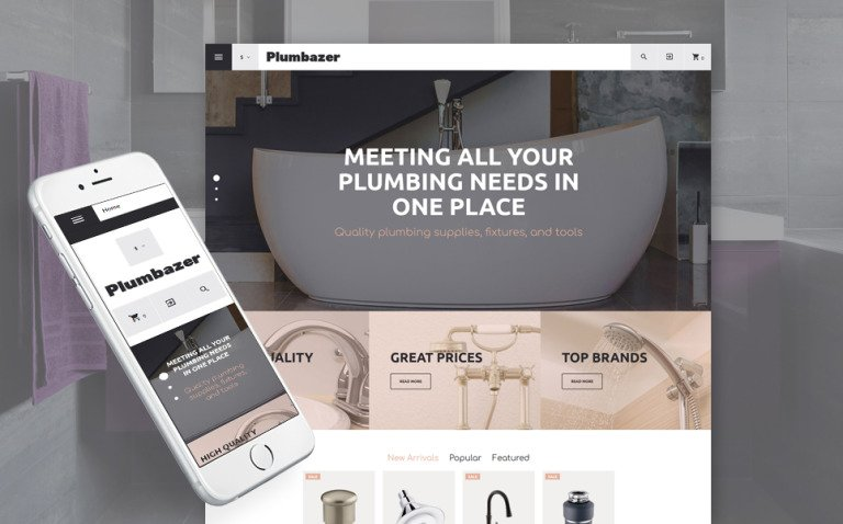 Plumbing Responsive VirtueMart Template New Screenshots BIG