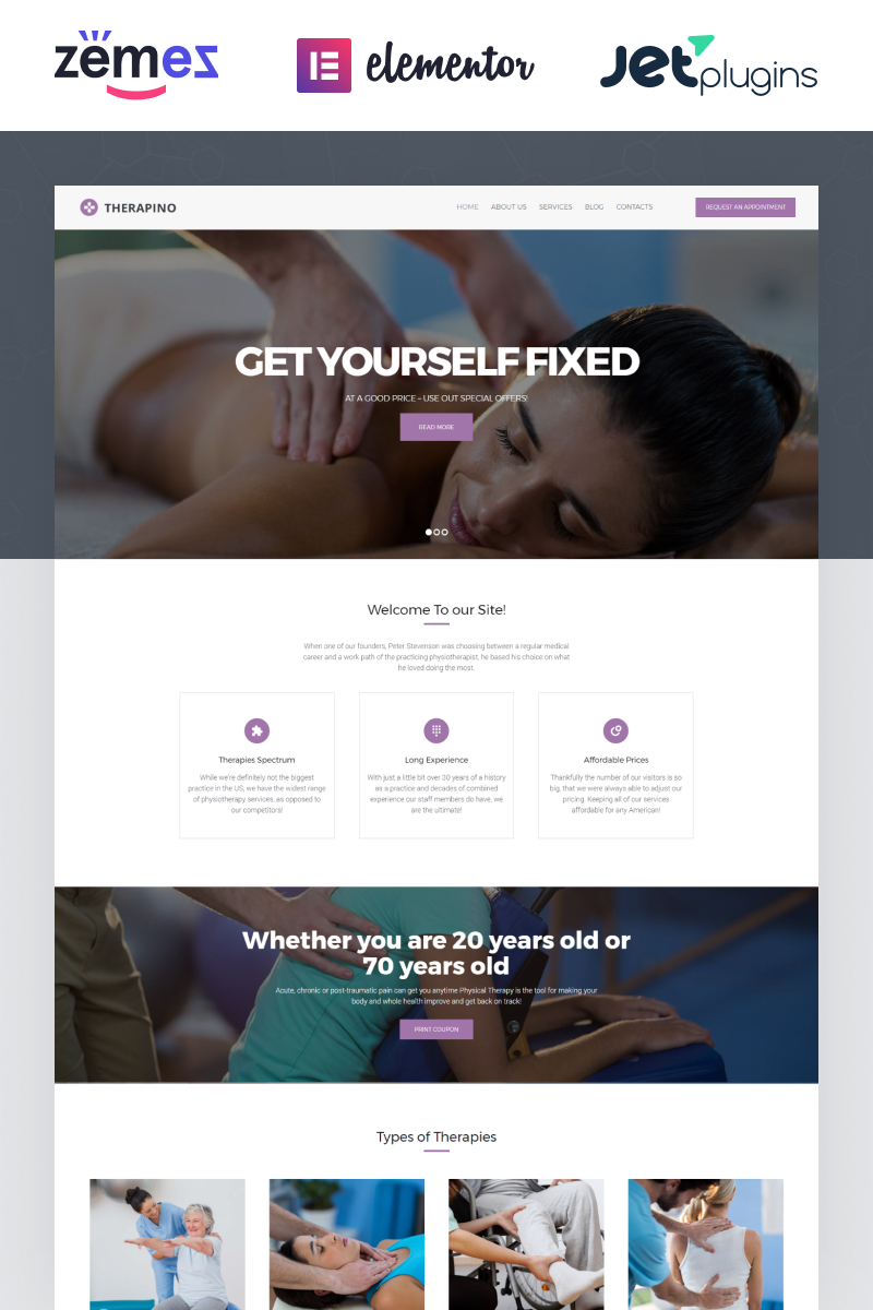 Responsive Therapino - Physical Therapy Wordpress #62501