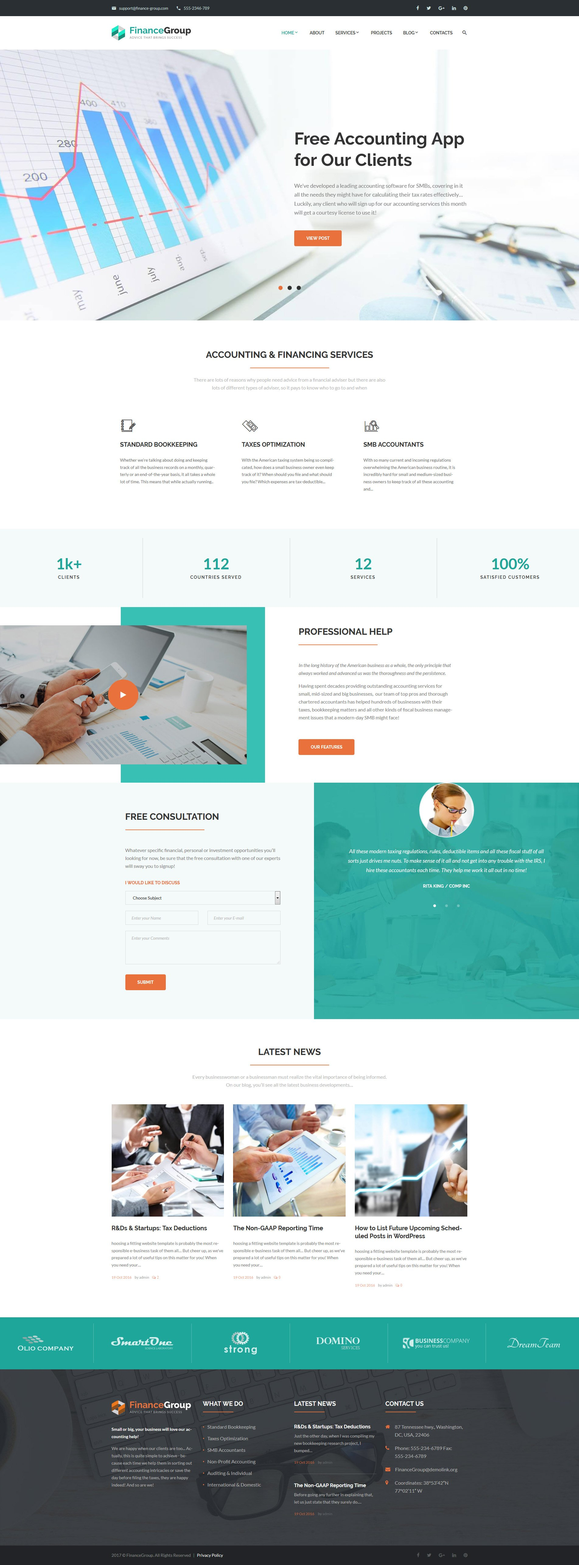 WordPress Theme #62502 für Buchhaltung Website