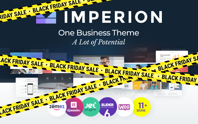 """Imperion - Multipurpose Corporate"" Responsive WordPress thema №62626"