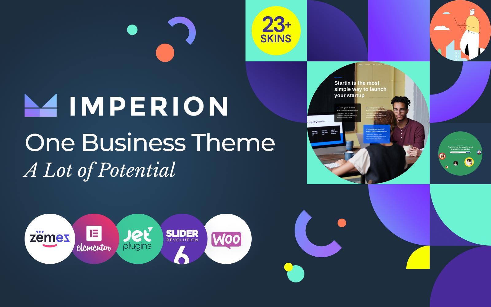 Imperion - Multipurpose Corporate WordPress Theme Tema WordPress №62626