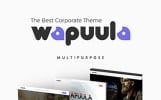 Wapuula - Багатоцільовий WordPress шаблон корпоративного сайту