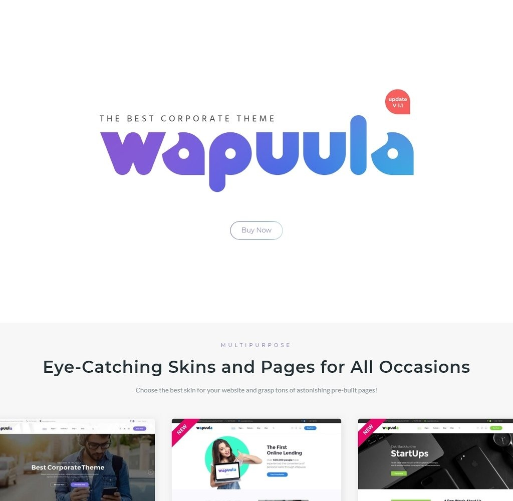 Wapuula Multipurpose Corporate Wordpress Theme