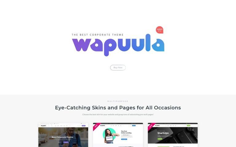 Wapuula - Multipurpose Corporate WordPress Theme Big Screenshot