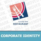 Cafe & Restaurant Corporate Identity Template 6311