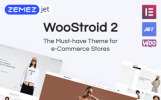 Responsivt Woostroid - Multifunktionell WooCommerce-tema
