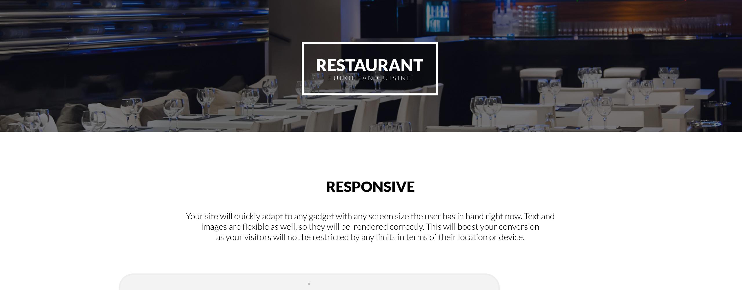 Restaurant Cafe  Responsive Joomla Template