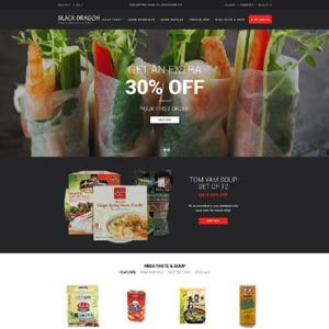 Screenshot of Black Dragon Sushi