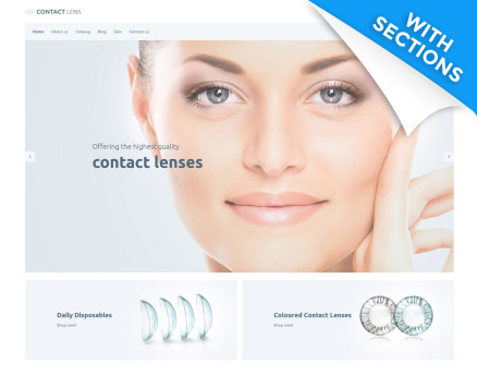 Contact Lens - Lens Store Shopify Theme