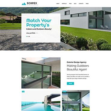 Scapex U2013 Exterior Designer Portfolio. Responsive WordPress Template