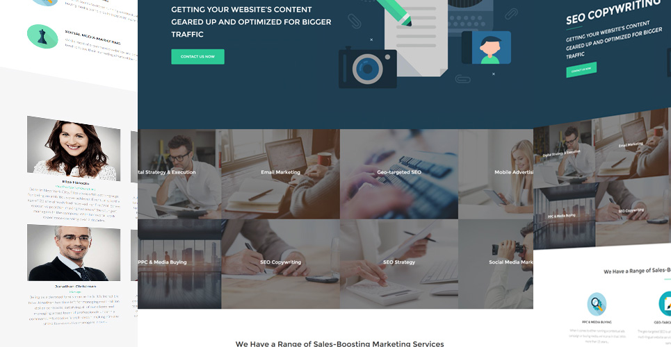 Website Design Template 63372 - company marketing advertising tools consulting advertisement consultation success