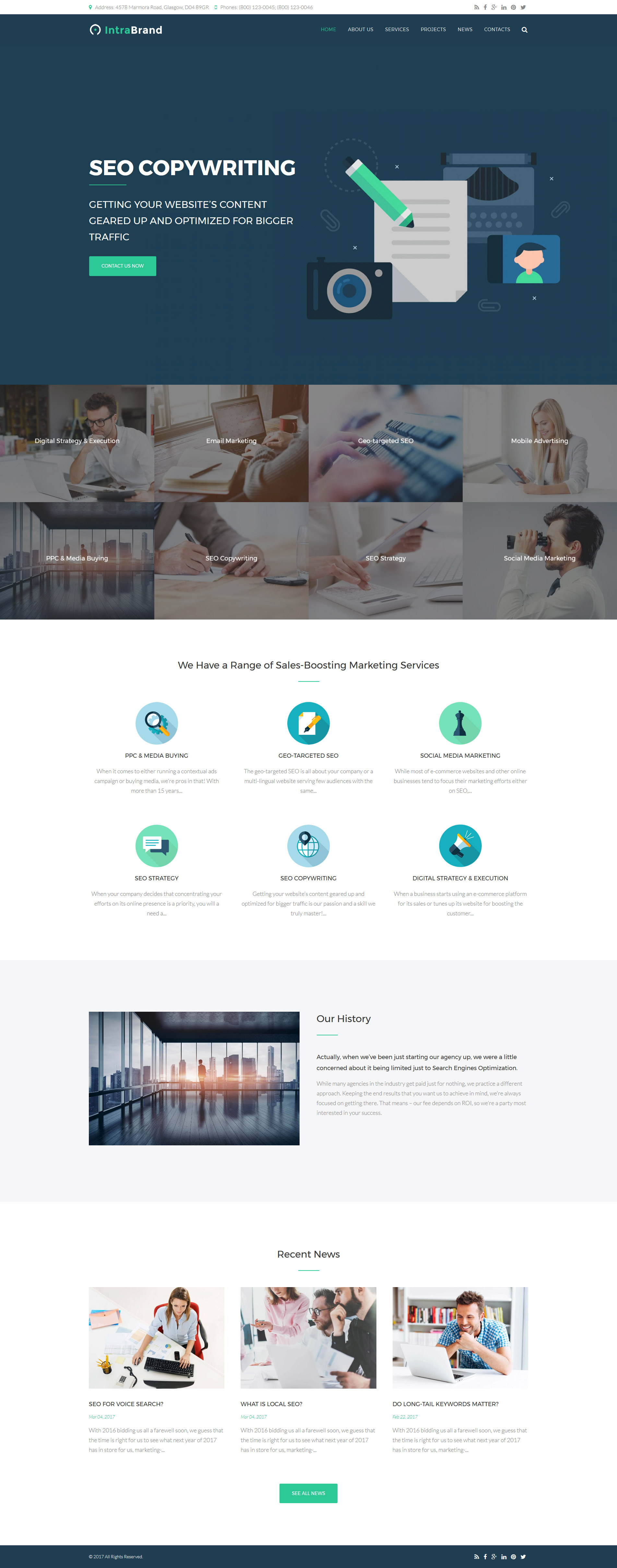 Website Design Template 63372 - products optimization company marketing advertising tools consulting advertisement consultation success