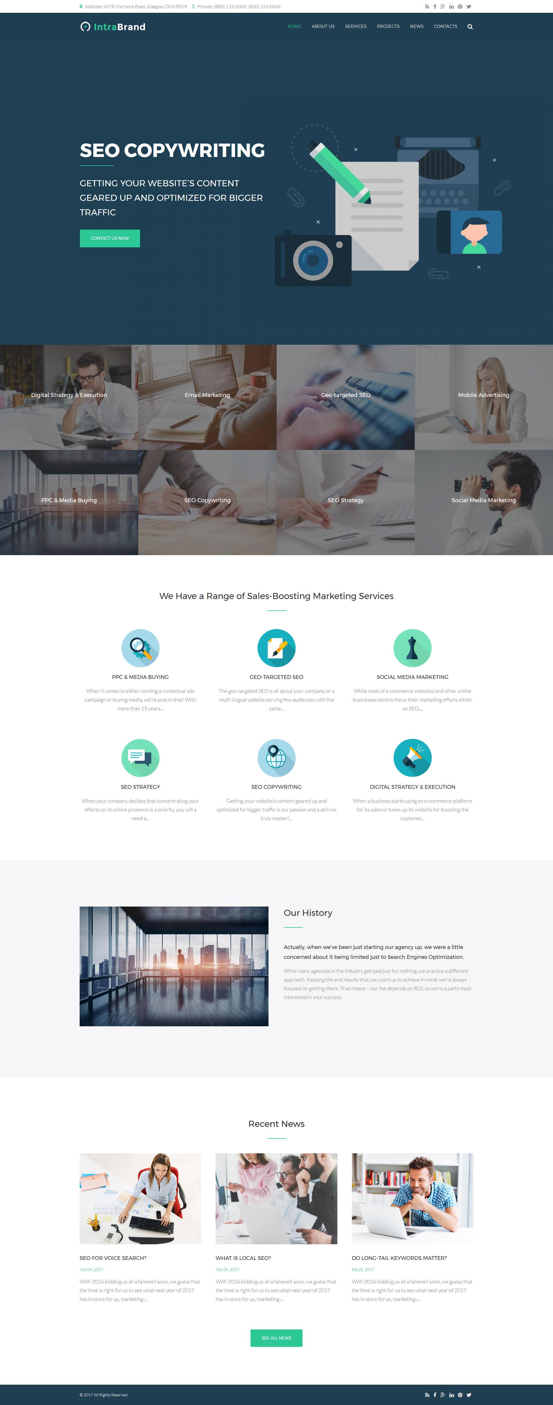 Website Design Template 63372 - advertisement consultation success