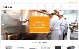 Restaurant Supplies VirtueMart Template