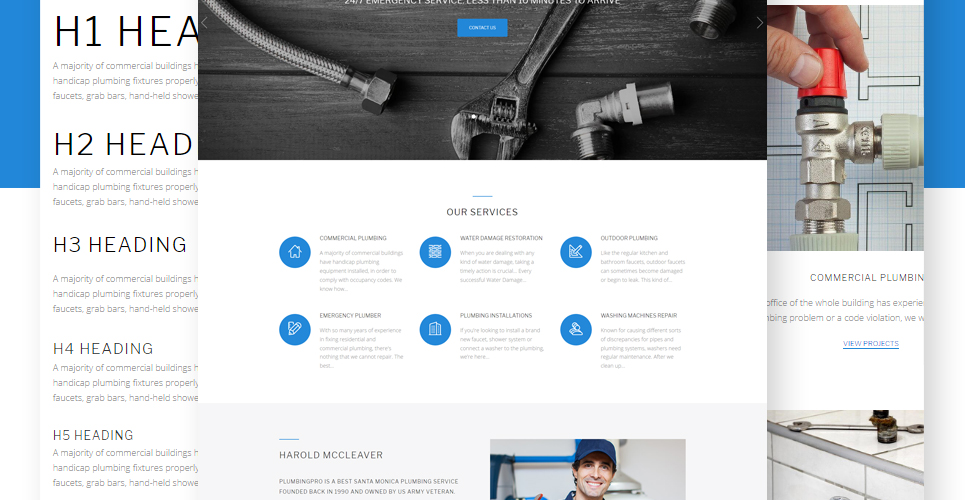 plumbing brochure design plumber services wordpress theme